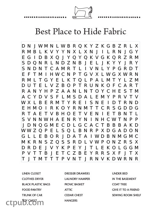 tuesday fun  free word search puzzle for quilters